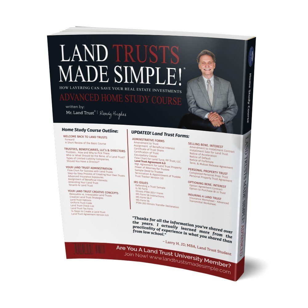 Land Trusts Made Simple Advanced Home Study back cover